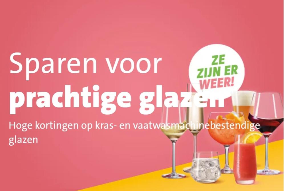 Jumbo glazen spaaractie glazen sparen 2020 schott zwiesel