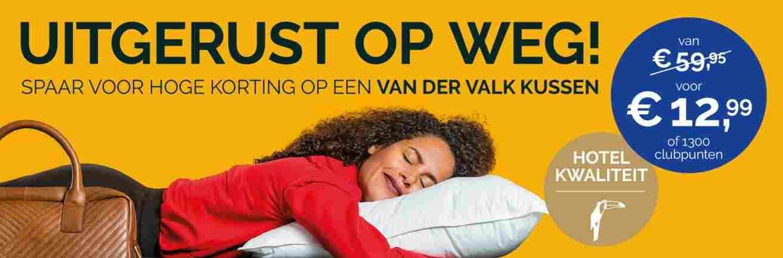 Total kussen actie Van der Valk kussen 2020 spaaractie