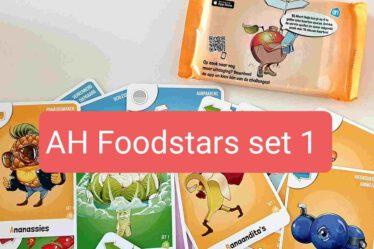 AH Foodstars kaartenset 1 overzicht Foodstars kaarten Albert Heijn