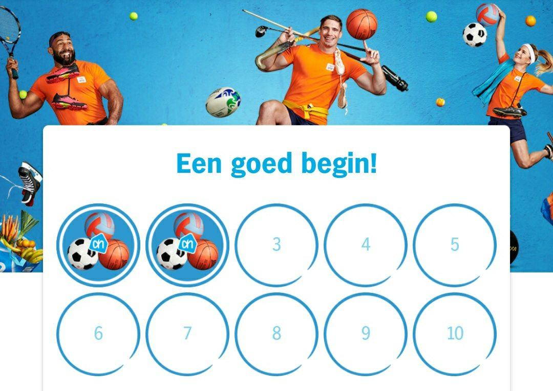 Albert Heijn proeflessen sparen - AH proef de sport actie 2020 via de app sparen