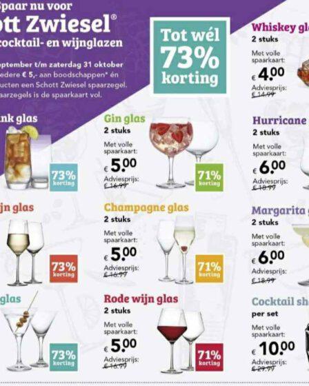 Deen glazen actie 2020 uit de folder met de spaaractie Deen glazen