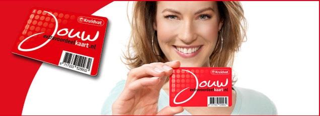 Kruidvat Jouw extra voordeelkaart klantenkaart korting en gratis producten bij Kruidvat