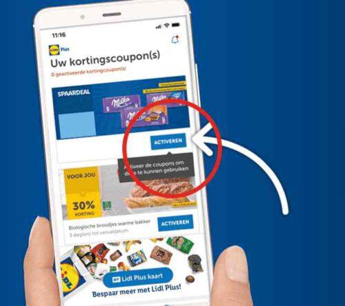 Lidl Plus app activeer de gratis boodschappen en korting Lidl vouchers met Lidl Plus app