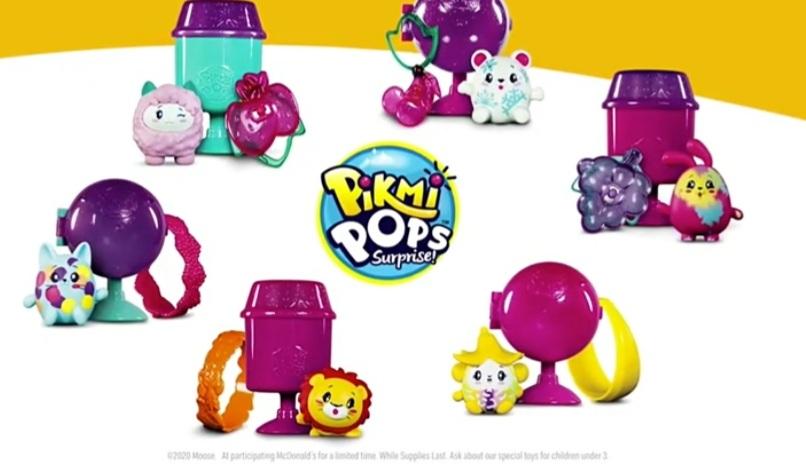 Mc Donalds happy meal speeltjes Pikmi Pops september 2020
