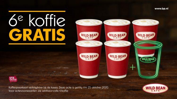 BP wild bean café gratis koffie actie